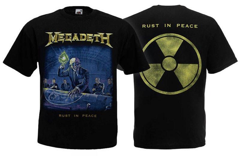 Футболка MEGADETH - Rust In Peace - (радіація)
