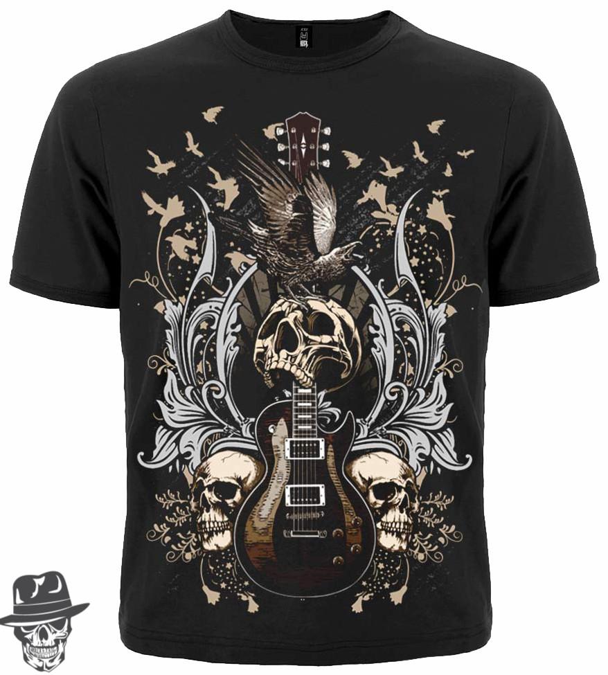 Футболка Guitar with Skulls and Ravens