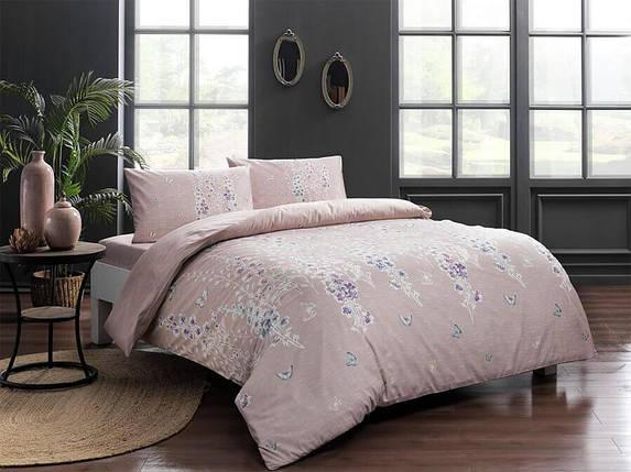 Двуспальный евро комплект TAC Sarah Pink Ранфорс, фото 2