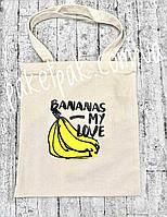 Сумка-шоппер, экосумка Bananas, фото 1