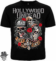 """Футболка Hollywood Undead """"Day Of The Dead"""" (SKULLS)  MK1"""