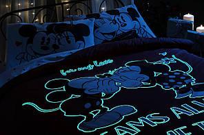 Двуспальный евро комплект TAC M&M Dreams Glow Ранфорс / простынь на резинке, фото 3