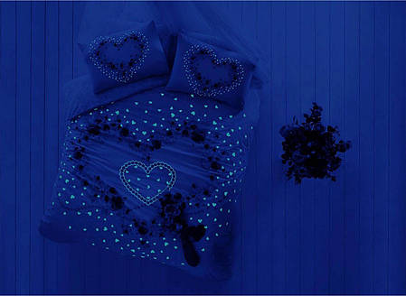 Двуспальный евро комплект TAC Beautiful Ранфорс+светится в темноте, фото 2