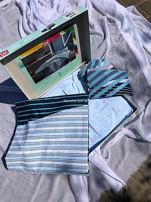 Двуспальный евро комплект TAC Atlantis Ранфорс / простынь на резинке, фото 2