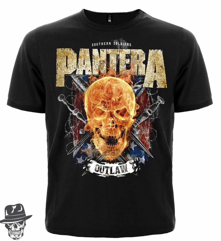 Pantera (flamming skull)