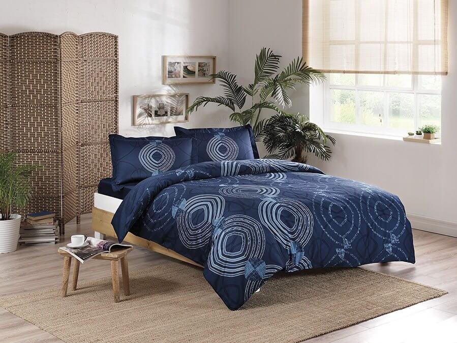 Двуспальный евро комплект TAC Paloma Blue Сатин