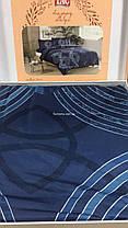 Двуспальный евро комплект TAC Paloma Blue Сатин, фото 3