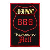 Нашивка 666 -1 (The Road To Hell) - нашивка з вишивкою