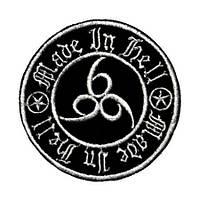 666 -3 (Made In Hell, коло) - нашивка з вишивкою