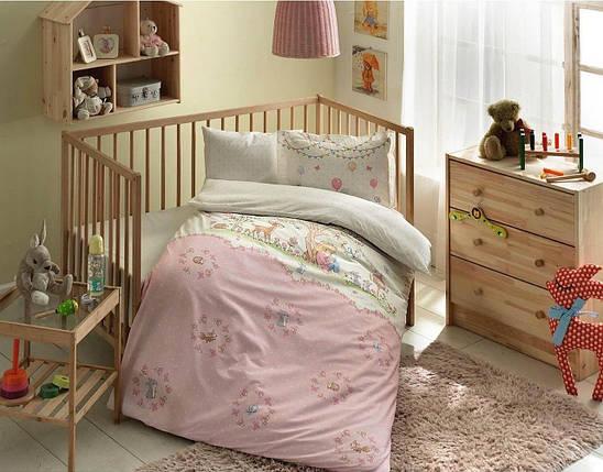 Комплект постельного белья в кроватку TAC Organic Candy Ранфорс, фото 2