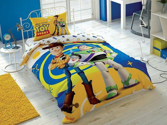 Детский и подростковый комплект TAC Toy Story 4 Ранфорс / простынь на резинке, фото 2