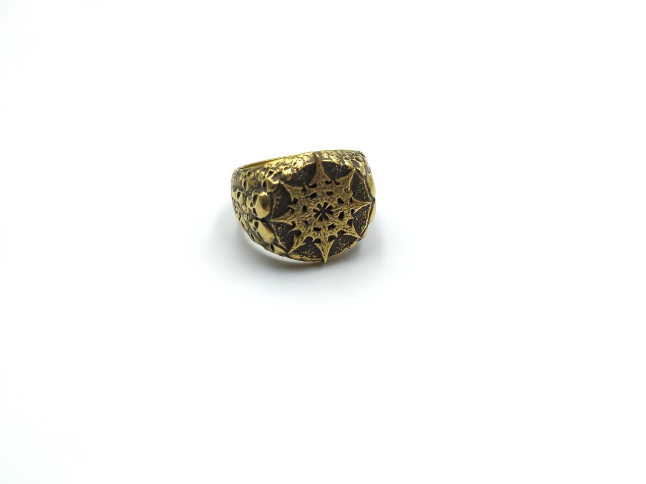 Кільце Chaos ring, символ Хаосу Warhammer 40000 латунь