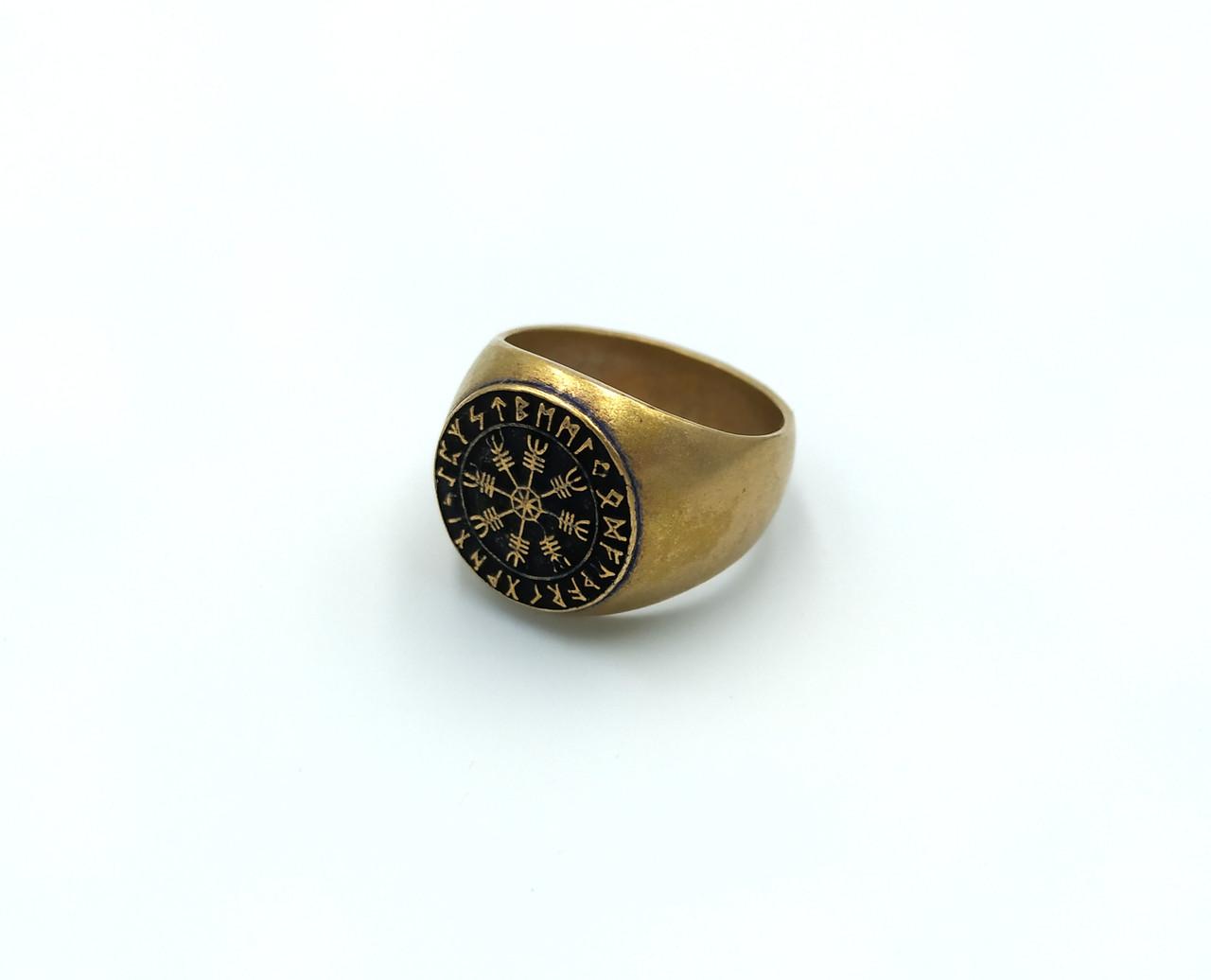 Кільце Руна Aegishialmur бронза