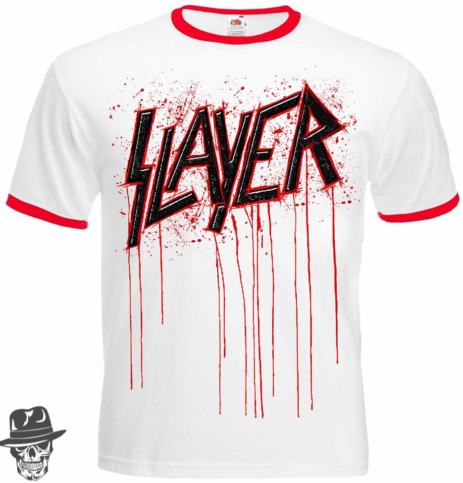 Футболка-рінгер Slayer (blood logo)