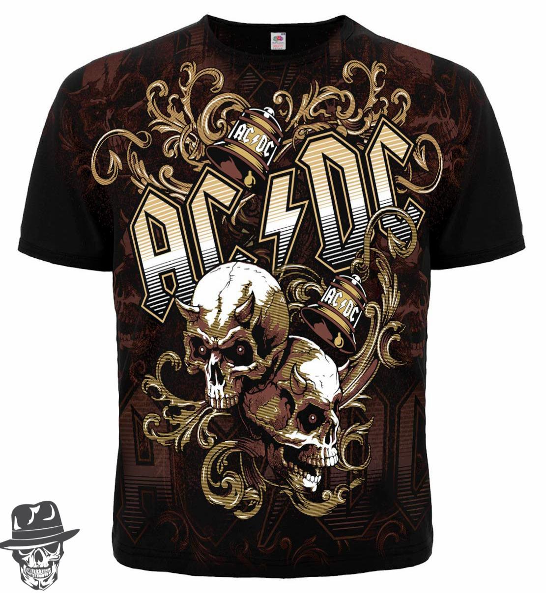 Футболка AC/DC (skulls and bells)