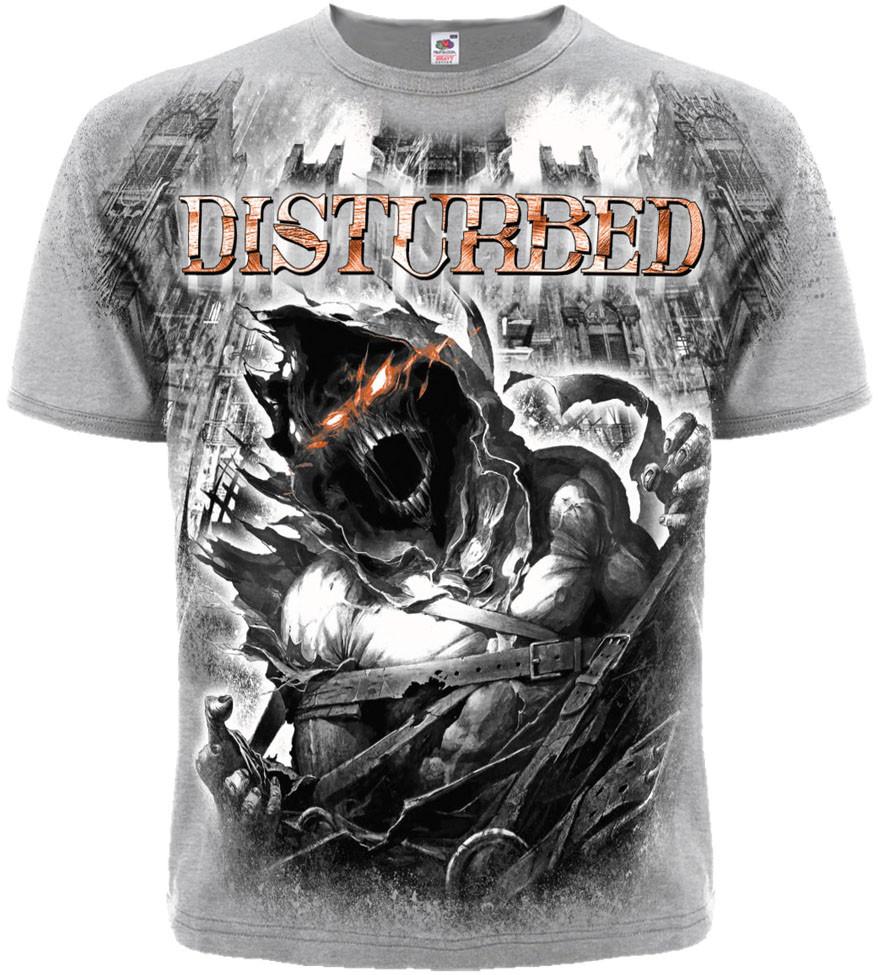 "Футболка Disturbed ""Asylum (melange t-shirt)"