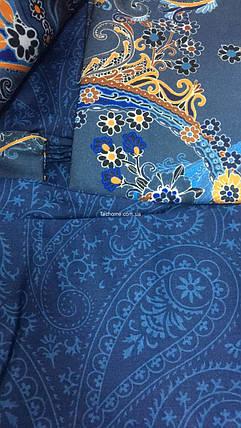 Двуспальный евро комплект TAC Marisol Blue Сатин-Digital, фото 2