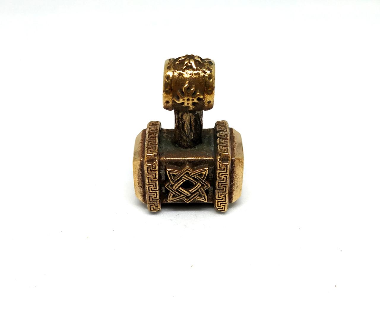 Кулон молот Сварога 2 бронза