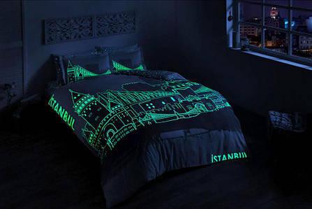 Двуспальный евро комплект TAC Istanbul Сатин+светится в темноте, фото 2