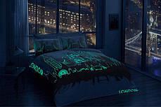 Двуспальный евро комплект TAC London Сатин+светится в темноте, фото 2