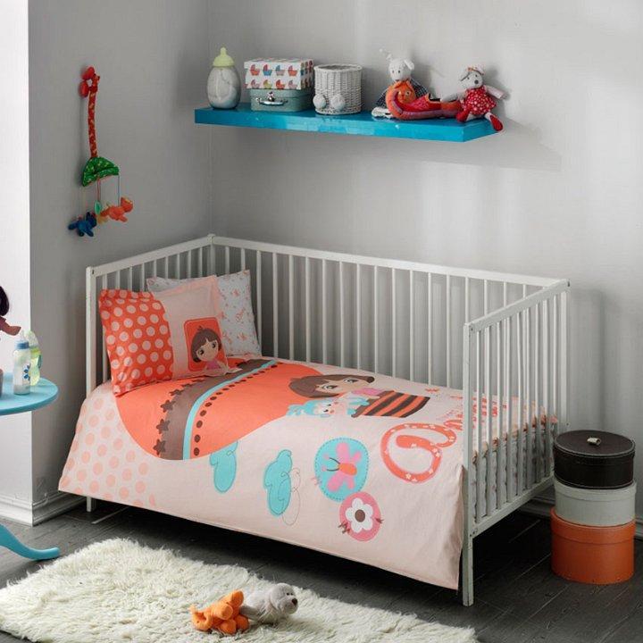 Комплект постельного белья в кроватку TAC Dora Baby Ранфорс