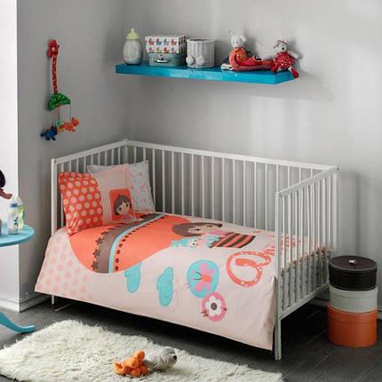 Комплект постельного белья в кроватку TAC Dora Baby Ранфорс, фото 2