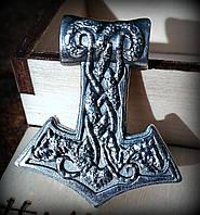 Кулон Молот Тора змій срібло, фото 1