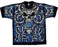 Футболка Blue Flame Skull
