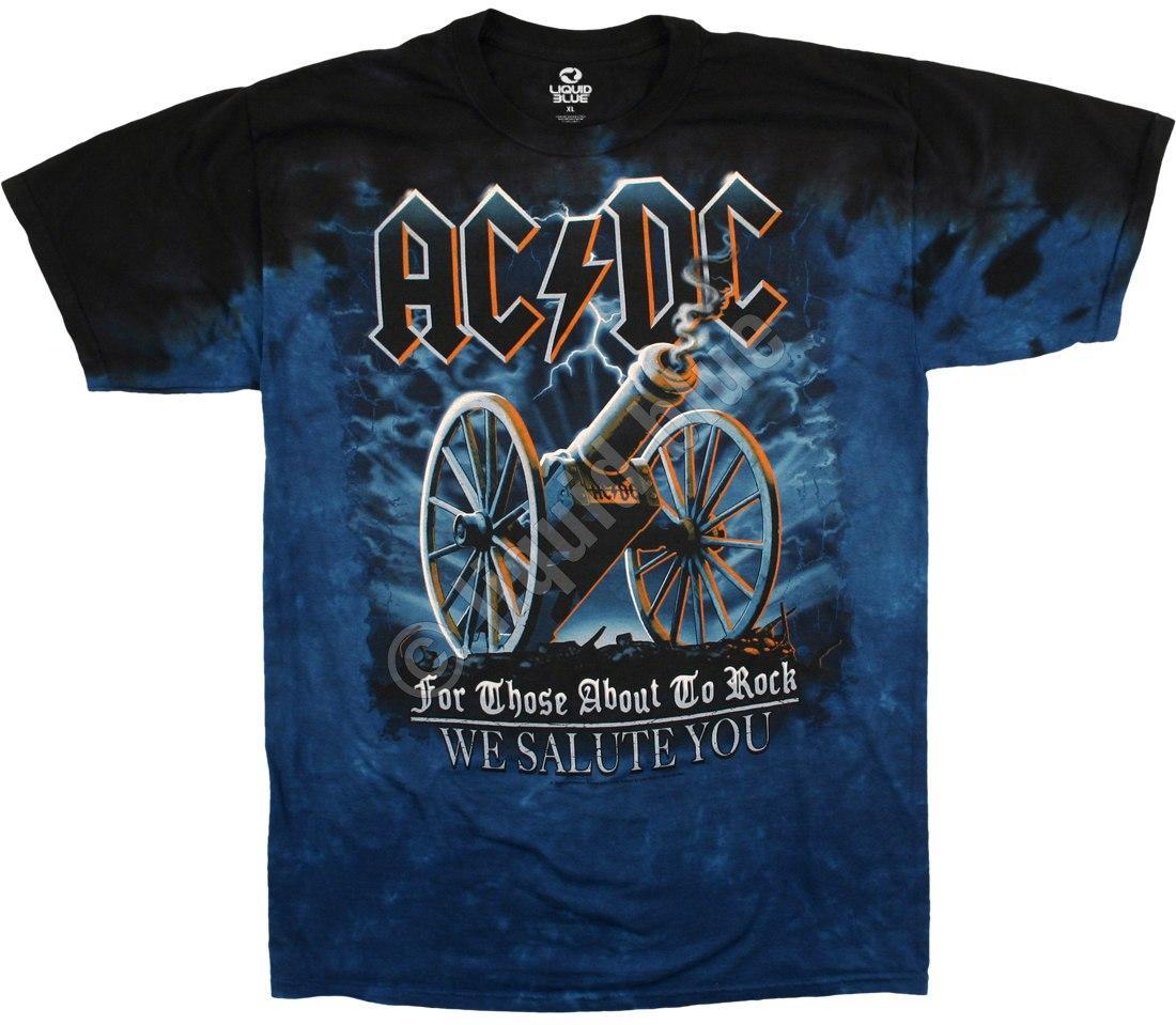 Футболка AC/DC Gun Salute TIE DYE