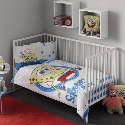 Комплект постельного белья в кроватку TAC Sponge Bob Baby Ранфорс, фото 2