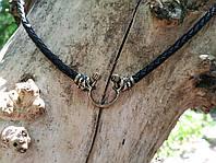 Шкіряний шнур ведмідь латунь, фото 1
