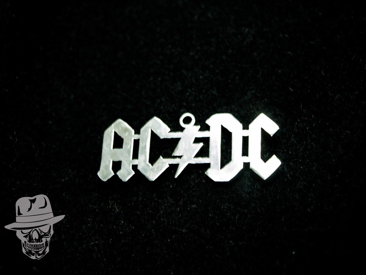 AC/DC (лого) - кулон сталевий