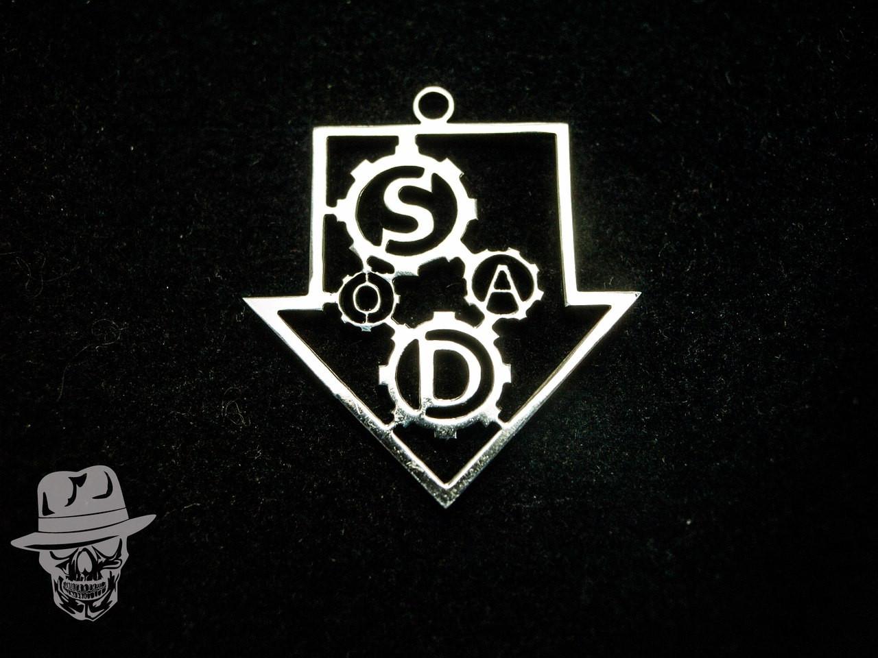 System Of A Down (SOAD) - кулон сталевий