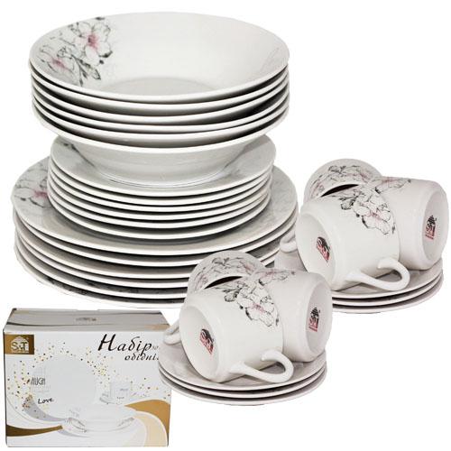 Набор посуды обеденный 30 предметов Суфле 060-30-01