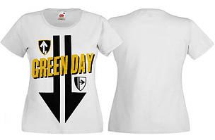 Футболка жіноча GREEN DAY(лого) біла