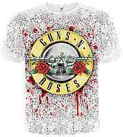 "Футболка GUNS n'roses ""BAKED ON MESS"" (WHITE T-SHIRT), фото 1"