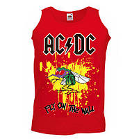 Майка AC/DC - Fly On The Wall червона