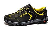 Кроссовки мужские спортивные черные с желтым