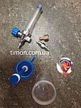 Флоуметр с расходометром (увлажнитель кислорода), под соединение DIN, фото 2