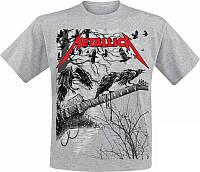Футболка Metallica - Guitar with ravens (сіра)