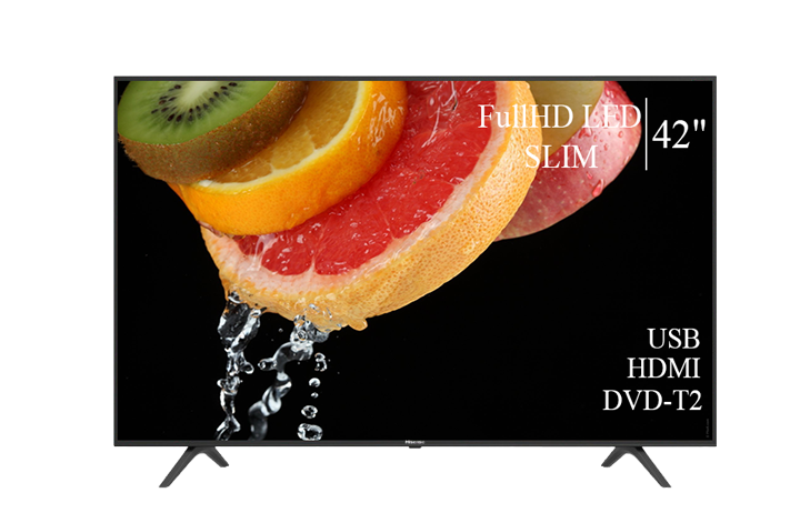 """Сучасний Телевізор Hisense 42"""" FullHD T2 USB Гарантія 1 РІК!"""