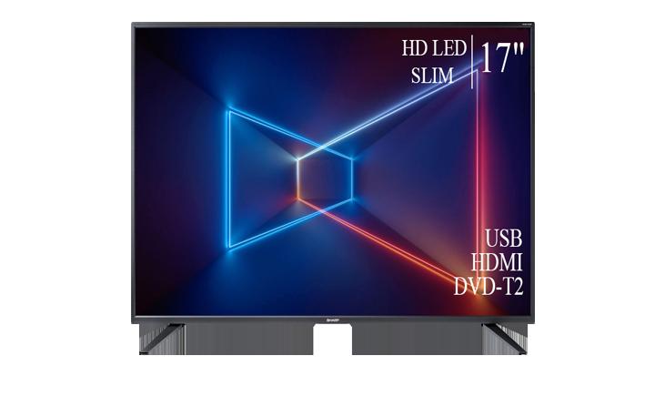 """Сучасний Телевізор Sharp 17"""" HD-Ready DVB-T2 USB Гарантія 1 РІК!"""