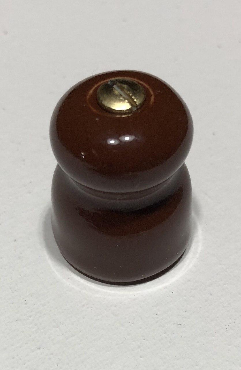 Фарфоровые изоляторы для монтажа ретро проводов, коричневые