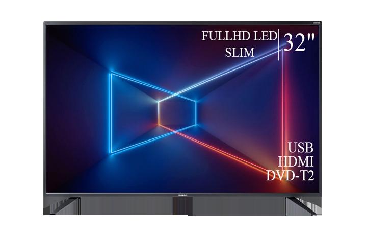 """Сучасний Телевізор Sharp 32"""" FullHD T2 USB Гарантія 1 РІК!"""