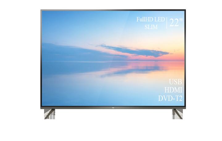 """Сучасний Телевізор TCL 22"""" FullHD T2 USB Гарантія 1 РІК!(1080р)"""