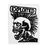 EXPLOITED-2 (на білому тлі) - нашивка з вишивкою