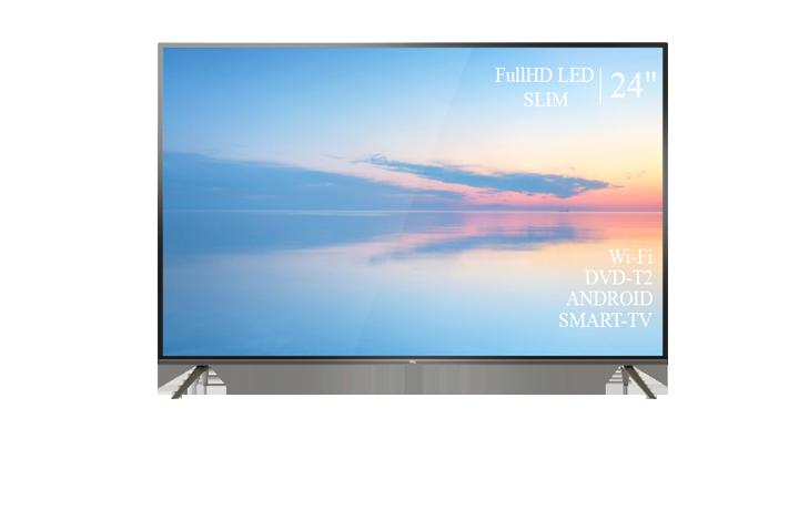"""Сучасний Телевізор TCL 24"""" Smart-TV Full HD T2 USB Гарантія 1 РІК!"""