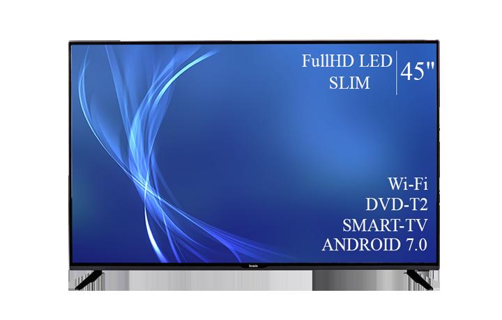 "Сучасний Телевізор Bravis 45"" Smart-TV/Full HD/DVB-T2/USB Android 7.0"