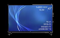 "Сучасний Телевізор Bravis 45"" Smart-TV/Full HD/DVB-T2/USB Android 7.0, фото 1"