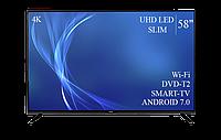 "Современный  Телевизор   Bravis 58"" Smart-TV/DVB-T2/USB Android 7.0 4К/UHD, фото 1"